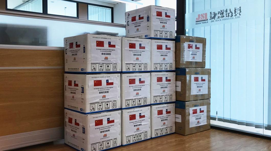 JSI donó materiales antiepidémicos a Chile y EE. UU.